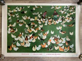 Ma Ya-li Brigade's Chicken Coop - Original Vintage Chinese Poster
