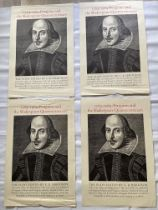 Four Penguin posters of Shakespear 76cm x 50cm.