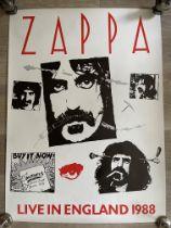Frank Zappa Original Vintage Poster Excellent Cond
