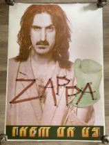 "Frank Zappa ""Them or Us"" Original Vintage Poster E"
