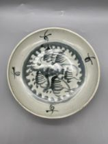 A Chinese export porcelain saucer dish from the Na