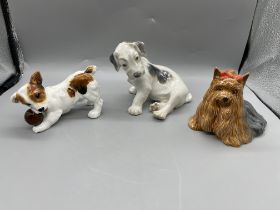 Three Dog Figurines to include Royal Doulton, Besw