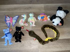 Quantity of Eight TY Soft Toys