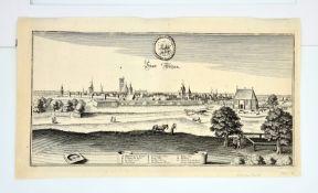Matthäus Merian der Ältere (1593-1650), Stadt Uelzen , Kupferstich, Blattgröße: 40,7x23cm, 1654,