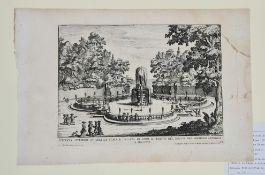 Giovanni Battista Falda ,(Valduggia 1643 .--Roma 1678 ) Kupferstich, Fontana Superiore
