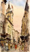 Josef Felsinger ,(Wien 1908-1972 Salzburg, Aquarell,signiert Felsinger, Passepartoutausschnitt: 29,