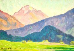 Max Moser 1880-1965 Innsbruck , Habicht, Tempera auf Papier, 1934 .Größe: ca. 34,5x50cm , ungerahm