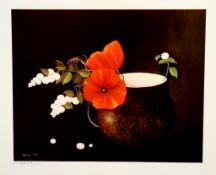 Heide Dahl (1940-2014),Offset Lithographie , Handsigniert , 1985 , Bildformat 30 x 24 cm , Rahmen