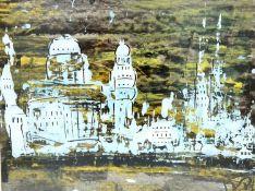Peter Pongratz, Mischtechnik auf Papier, Größe Passepartoutausschnitt: 41x31,5cm, gerahmt, monogram