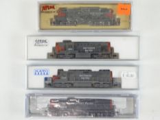 A group of American Outline N Gauge diesel locomotives by KATO, ATLAS and LIFE-LIKE all in