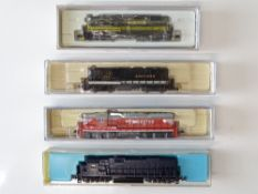 A mixed group of American Outline N Gauge diesel locomotives by LIFE-LIKE, ATLAS and CON-COR - G/