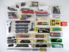 A large group of spares and accessories for N Gauge including a quantity of British and American