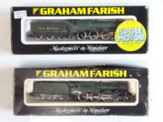 A pair of N Gauge steam locomotives by GRAHAM FARISH to include a Hall Class in GWR livery and a