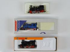 A group of European Outline N Gauge small steam tank locomotives by ARNOLD - G/VG in G boxes (
