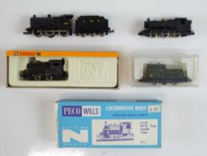 A group of N Gauge steam and diesel locomotives by FARISH, LIMA etc. to include 2 x kit built