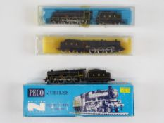 A group of British Outline N Gauge LMS steam locomotives by PECO and GRAHAM FARISH - to include: 2 x