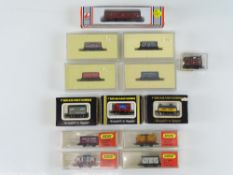 A quantity of boxed N Gauge wagons and vans by DAPOL, FARISH, MINITRIX and LIMA - G in G boxes (13)