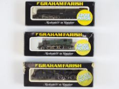 A group of British Outline N Gauge steam locomotives by GRAHAM FARISH to include a Prairie Tank