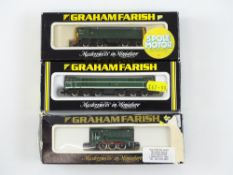 A group of N Gauge diesel locomotives by GRAHAM FARISH to include Class 08, 20 and 31 examples - G/