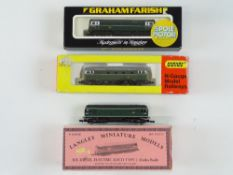 A group of N Gauge Sulzer diesel locomotives to include a LANGLEY kit built Class 24, a MINITRIX