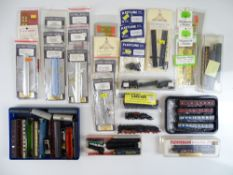 A large quantity of N Gauge British and Continental Outline kits, spares and accessories together