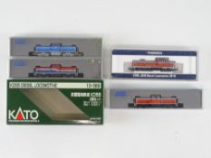 A group of N Gauge Japanese Outline diesel locomotives by KATO and TOMIX - VG in G/VG boxes (4 locos