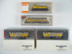 A group of American Outline N Gauge diesel locomotives by BACHMANN, ATLAS and ARNOLD all in Union