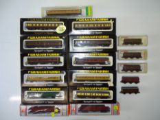A mixed group of British Outline N Gauge coaches and luggage vans by GRAHAM FARISH and others to