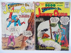 SUPERMAN'S PAL JIMMY OLSEN #6 & 14 - (2 in Lot) - (1955/56 - DC) - Flat/Unfolded - a photographic