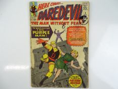 DAREDEVIL #4 - (1964 - MARVEL - UK Cover Price) - Origin and First appearance of the Purple Man (the