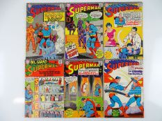 SUPERMAN #190, 191, 192, 193, 195, 196 - (6 in Lot) - (1966/67 - DC - US Price & UK Cover Price) -