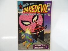 DAREDEVIL #17 - (1966 - MARVEL - UK Price Variant) - Spider-Man, Masked Marauder, and J. Jonah