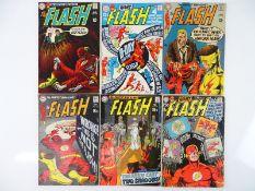 FLASH #186, 187, 189, 191, 194, 196 - (6 in Lot) - (1969/70 - DC - US Price & UK Cover Price) -