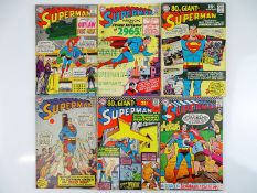 SUPERMAN #179, 181, 183, 184, 187, 188 - (6 in Lot) - (1965/66 - DC - US Price & UK Cover Price) -