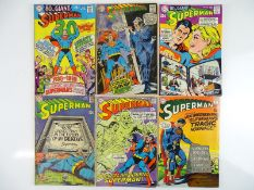 SUPERMAN #207, 209, 212, 213, 214, 215 - (6 in Lot) - (1968/69 - DC - US Price & UK Cover Price) -