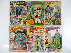 SUPERMAN #217, 218, 219, 221, 222, 223 - (6 in Lot) - (1969/70 - DC - US Price & UK Cover Price) -