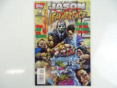 JASON VS LEATHERFACE #2 - (1995 - TOPPS) - Low print run - Simon Bisley cover - Flat/Unfolded - a