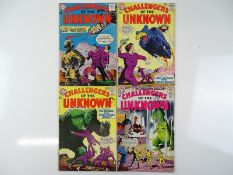 CHALLENGERS OF THE UNKNOWN #33, 35, 38, 43 - (4 in Lot) - (1963/64 - DC - UK Cover Price) - Flat/