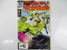INCREDIBLE HULK AND WOLVERINE #1 - (1986 - MARVEL) - First reprint of Wolverine's first appearance