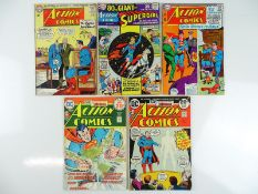 ACTION COMICS: SUPERMAN #301, 334, 337, 427, 435 - (5 in Lot) - (1963/74 - DC - UK Cover Price) -