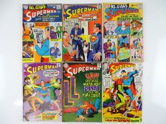 SUPERMAN #197, 198, 202, 203, 204, 205 - (6 in Lot) - (1967/68 - DC - US Price & UK Cover Price) -