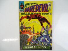 DAREDEVIL #14 - (1966 - MARVEL - UK Price Variant) - Daredevil battles the Plunderer + Ka-Zar