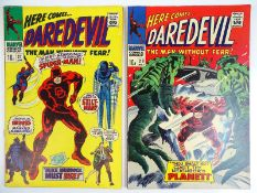 DAREDEVIL #27 & 28 - (2 in Lot) - (1967 - MARVEL - UK Price Variant) - Flat/Unfolded - a