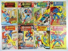 ACTION COMICS: SUPERMAN #390, 394, 403, 410, 411, 413, 417, 418 - (8 in Lot) - (1970/72 - DC - UK