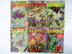SEA DEVILS #4, 5, 8, 10, 18, 28 - (6 in Lot) - (1962/66 - DC - UK Cover Price) - Flat/Unfolded