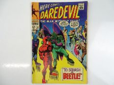 DAREDEVIL #34 - (1967 - MARVEL) - Beetle appearance - Gene Colan cover and interior art - Flat/