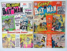 BATMAN: GIANT-SIZE #5 (SILVER ANNIVERSARY) & #7 - (1964 - DC) - Flat/Unfolded - a photographic