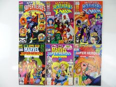 MARVEL SUPER-HEROES #4, 6, 7, 9, 10, 14 - (6 in Lot) - (1990/93 - MARVEL) - Flat/Unfolded