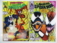 AMAZING SPIDER-MAN #362 & 363 - (2 in Lot) - (1992 - MARVEL) - Carnage, Venom, Human Torch