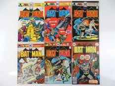BATMAN #271, 273, 274, 275, 279, 280 - (6 in Lot) - (1976 - DC - US Price & UK Cover Price) - Flat/